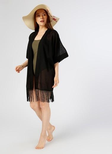 T-Box Plaj Elbisesi Siyah